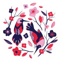 Colección Pattern Emplumada. Un progetto di Design di Natalia Rojo Mellado - 13.08.2018