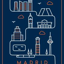 Madrid, en una línea. Un proyecto de Diseño, Ilustración y Diseño gráfico de Alberto Camacho Gordaliza - 03.09.2018
