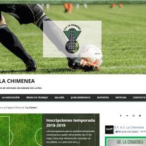 Mi Proyecto del curso: Iniciación al Diseño Web con WordPress - A.V. La Chimenea. Um projeto de Web design de Iris Luis Bustamante - 05.11.2018