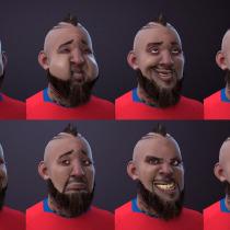 Mi Proyecto del curso: Rigging: articulación facial de un personaje 3D. Um projeto de 3D, Rigging e Design de personagens 3D de Phanto_Coke - 26.11.2018