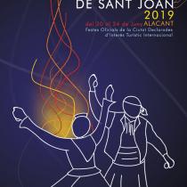 CARTEL CONCURSO FOGUERES DE SANT JOAN 2019 ALACANT. Un proyecto de Diseño gráfico de Armando Cerdá Alarcón - 12.12.2018
