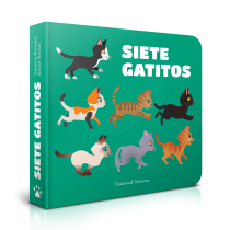 • SIETE GATITOS • Mi Proyecto del curso:  Ilustración y diseño de libros infantiles. Un proyecto de Ilustración e Ilustración vectorial de Tatiana Romero - 17.12.2018