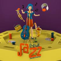 Festival de Jazz - Mi Proyecto: Ilustración 3D con Cinema 4D. Un progetto di 3D , e Character design 3D di Carlos Daniel Velez - 30.12.2018