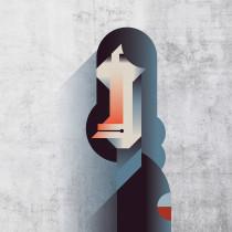 Mi Proyecto del curso: Retrato geométrico minimalista. Un projet de Illustration, Illustration vectorielle et Illustration de portrait de Maria Picassó i Piquer - 22.01.2019