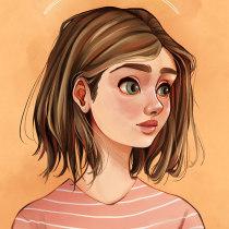 Estampa de Grethel  |  Ilustración digital con Procreate . Un proyecto de Diseño de personajes e Ilustración digital de Niabellum - 01.02.2019