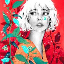 Mi Proyecto del curso: Retrato con lápiz, técnicas de color y Photoshop. Um projeto de Desenho a lápis, Desenho e Ilustração digital de Nuria Pazos - 14.02.2019