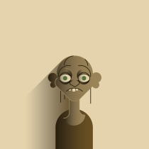 Lord of the Rings... Mi Proyecto del curso: Retrato geométrico minimalista. Un projet de Character Design, Illustration vectorielle , et Dessin de portrait de Jose Soriano Contreras - 25.02.2019