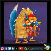 Mi Proyecto del curso: Diseño e ilustración de personajes increíbles. A Illustration, Design von Figuren, Spielzeugdesign und Digitale Illustration project by Boris Zarate - 12.03.2019