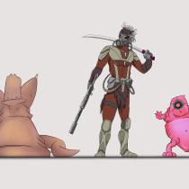 Mi Proyecto del curso: Introducción al diseño de personajes para animación y videojuegos. Um projeto de Animação, Design de jogos e Concept Art de Salvador Sevillano - 02.04.2019