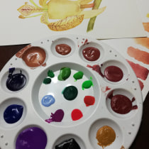 Mi Proyecto del curso: Elaboración de acuarelas artesanales. A Aquarellmalerei project by Elizabeth Benilda Sanchez - 09.04.2019