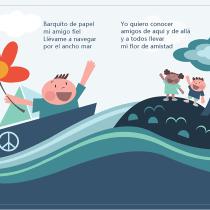 Mi ilustración esta basada en una canción infantil: Barquito de Papel. A Children's Illustration project by mpuerta70 - 04.22.2019