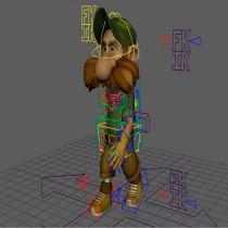 Mi Proyecto del curso: Rigging y deformación de un personaje. Un proyecto de 3D, Rigging y Animación 3D de Oriol González Quesada - 01.05.2019