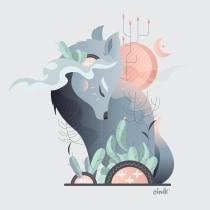 """""""Era un genio del sufrimiento"""" - El lobo estepario. A Illustration, Verlagsdesign und Instagram project by cindy monroy - 22.05.2019"""