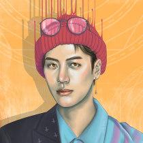 Mi Proyecto del curso: Técnicas digitales de retrato ilustrado. A Illustration, Digital illustration, and Portrait illustration project by Judith M - 02.20.2019