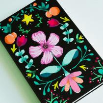 My project in Introduction to Floral Illustration with Acrylic course. Un proyecto de Ilustración de Xaris H. Pabon - 20.07.2019