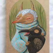 Mi Proyecto del curso: Acuarela sobre madera. A Illustration project by Katerine Ortiz - 08.27.2019
