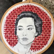 Mi Proyecto del curso: Creación de retratos bordados. A Embroider project by Karin Finkelstein - 09.12.2019