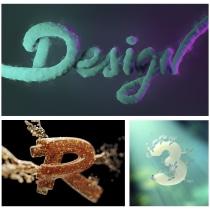 Mi Proyecto del curso: Técnicas avanzadas de lettering 3D con Cinema 4D . Un proyecto de 3D y Lettering de Eva María Rodríguez Solís - 21.09.2019