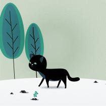 Día del gato. A Design, Animation, Character Design, Character animation, and 2D Animation project by Kelly Daniela Sanchez Rojas - 10.02.2019