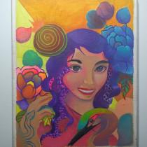 Mi Proyecto del curso: Ilustración con pintura y técnica mixta. Um projeto de Pintura de Victor R. Suarez - 13.10.2019