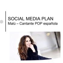 Mi Proyecto del curso: Estrategia de comunicación para redes sociales Malú. Un proyecto de Música y Audio de Blanca Rodríguez Jiménez - 22.10.2019