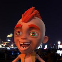 Mi Proyecto del curso: Rigging: articulación facial de un personaje 3D. Um projeto de Animação, Rigging, Animação de personagens, Animação 3D, Criatividade, Modelagem 3D e Videogames de Juan David Piedrahita Rebellón - 29.10.2019