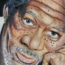 Morgan Freeman... unos de mis favoritos. A Realistic drawing project by Luis Enrique Paucar - 11.04.2019