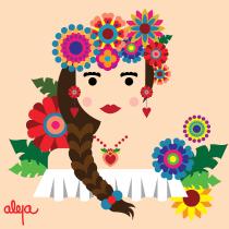Mi Proyecto del curso: Ilustración vectorial con estilo. A Illustration, and Vector Illustration project by Alejandra Cárdenas - 11.28.2019