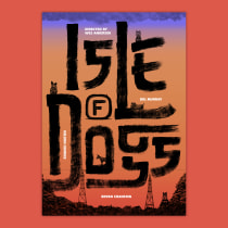 Lettering de cine: Isle of dogs. A Illustration, Film, and Lettering project by Chloé Etard - 11.30.2019