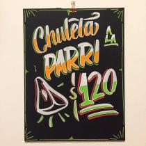 Pizarra con letras Casuales!. A Brush painting project by Leonardo Solari - 12.02.2019