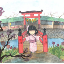 Mi Proyecto del curso: Ilustración en acuarela con influencia japonesa. Un projet de Illustration, Retouche photographique , et Aquarelle de Scarleth Gómez Oviedo - 20.12.2019