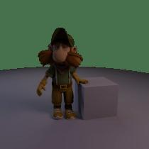 Mi Proyecto del curso: Rigging y deformación de un personaje. Un proyecto de Rigging y Animación 3D de Salvador Andres Ramirez Sanchez - 21.12.2019