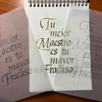Primer afiche con itálicas. A Calligraph project by fmaymar - 12.22.2019