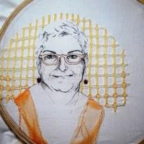 Meu projeto do curso: Criação de retratos bordados. A Embroider project by luciaalessio - 01.06.2020