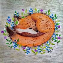 Mi Proyecto del curso: Acuarela sobre madera. A Illustration project by Andrea Pazos - 01.07.2020