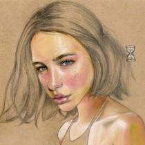 Mi Proyecto del curso: Ilustración con pastel y lápices de colores. A Illustration, Pencil drawing, and Portrait illustration project by Vrigit Smith - 01.10.2020