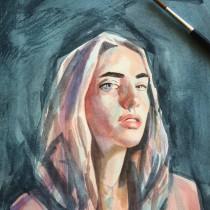 Mi Proyecto del curso: Retrato artístico en acuarela. A Watercolor Painting project by Marisol Ormanns - 01.20.2020