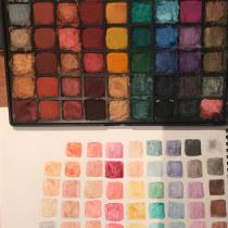 Acuarelas con sombras, una paleta brillante . A Illustration, H, werk, Aquarellmalerei und DIY project by Samantha Hernández González - 03.02.2020