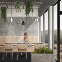 Restaurant ŁĄKA. Un proyecto de Arquitectura, Collage y Modelado 3D de Monika - 11.02.2020