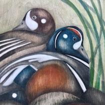 My project in Watercolour on Wood course. A Aquarellmalerei und Artistische Zeichnung project by Ursula Julve - 14.02.2020