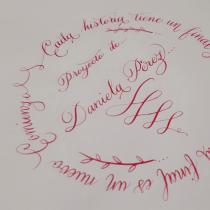 Mi Proyecto del curso: Caligrafía inglesa de la A a la Z. A Lettering project by daniela_perez0891 - 03.16.2020