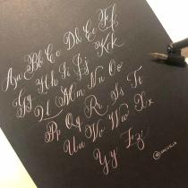 Mi Proyecto del curso: Caligrafía inglesa de la A a la Z. Un progetto di Calligrafia di Lorena Morales Alcaide - 16.03.2020