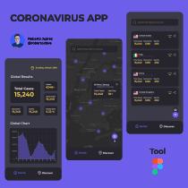 COVID-19 App. Um projeto de Ilustração, Animação, Mobile design, Design de apps  e Desenvolvimento de apps de Roberto Juarez - 30.03.2020