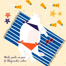 Mishi, ponte un poco de bloqueador... solar. A Character Design project by Alma Laura Hernández Mendoza - 04.01.2020