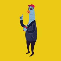 My pigeon is dacing!. Un proyecto de Animación 2D de Manuel Bustamante - 03.04.2020
