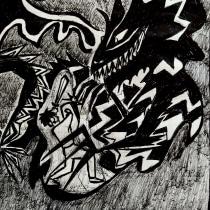 Jabberwocky. Un projet de Illustration, B , et e dessinée de Anakarina Robles Trujillo - 05.04.2020
