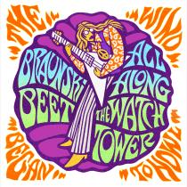 "Sleeve and label art for ""All Along the Watchtower"" by Braunski Beet. Um projeto de Ilustração, H e lettering de Marty Braun - 08.04.2020"