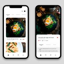 Proyecto del curso - App de recetas/red social de cocina. Um projeto de UI / UX e Web design de Andrés Soria - 13.04.2020