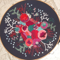 My project in Advanced Embroidery Techniques: Stitches and Compositions with Volume course. Un projet de Broderie de Gretchen KEELTY - 15.04.2020