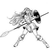 My project - warrior shield maiden. Un proyecto de Cómic de danielgn99 - 16.04.2020